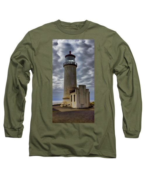North Head Lighthouse Long Sleeve T-Shirt by Cathy Anderson