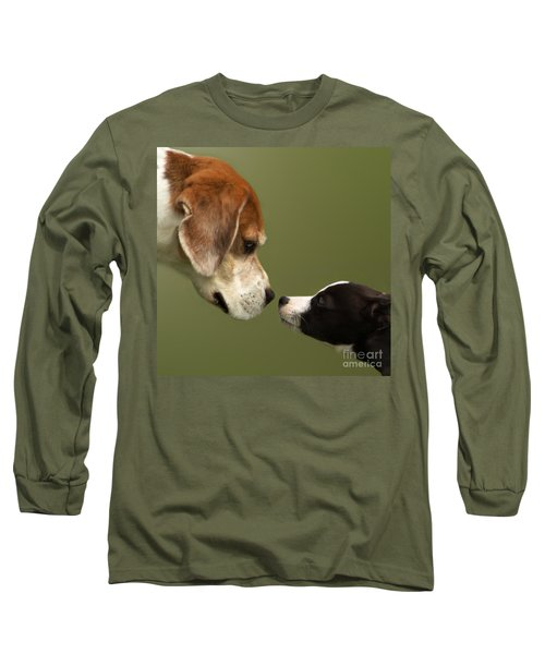 Nose To Nose Dogs 2 Long Sleeve T-Shirt