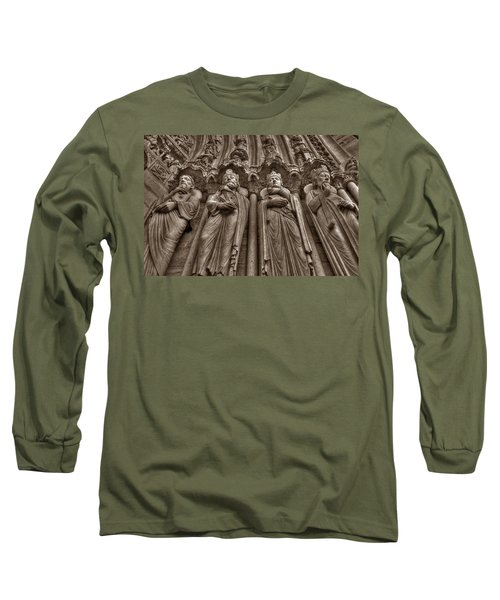 Notre Dame Facade Detail Long Sleeve T-Shirt
