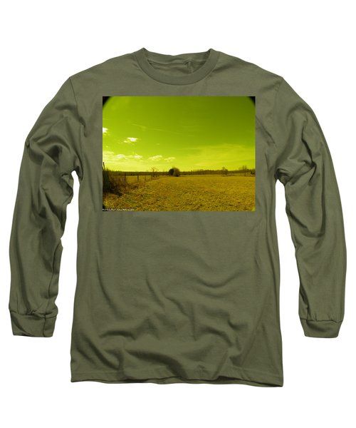 Long Sleeve T-Shirt featuring the photograph Nuclear Fencerow by Nick Kirby