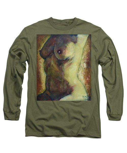 Nude Female Torso Long Sleeve T-Shirt
