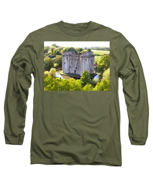 Nunney Castle Painting Long Sleeve T-Shirt