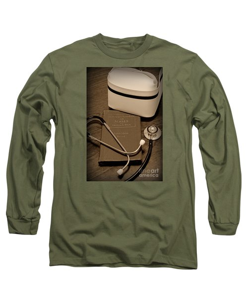 Nurse - The Care Giver Long Sleeve T-Shirt by Paul Ward