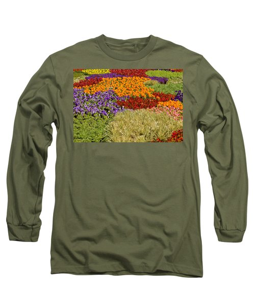 Long Sleeve T-Shirt featuring the photograph Nursery Potted Garden Plants Arrangement by JPLDesigns