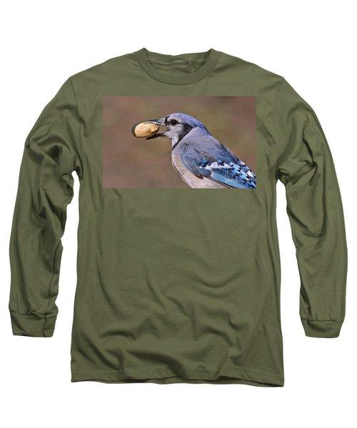 Nutty Bluejay Long Sleeve T-Shirt