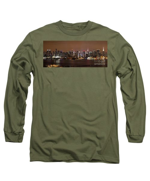 Nyc Skyline Long Sleeve T-Shirt