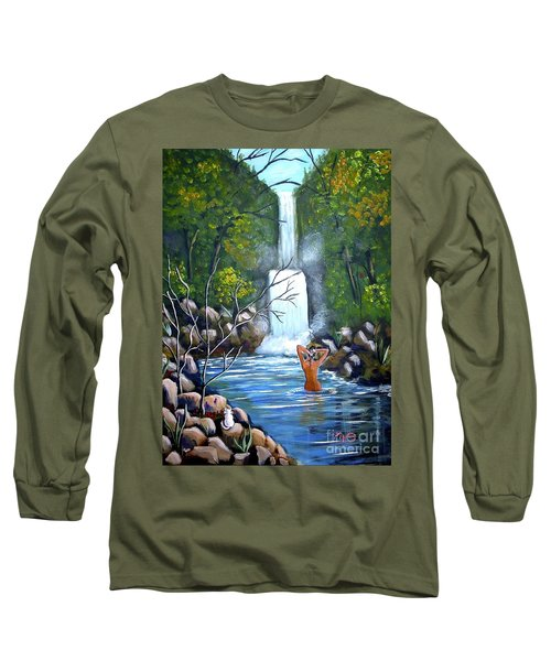 Nymph In Pool Long Sleeve T-Shirt
