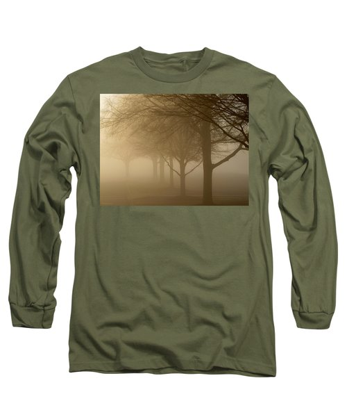 Long Sleeve T-Shirt featuring the photograph Oaks In The Fog by Greg Simmons