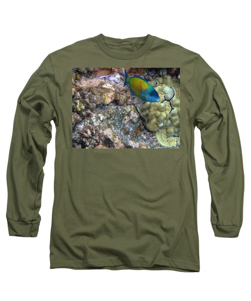 Ocean Color Long Sleeve T-Shirt by Peggy Hughes
