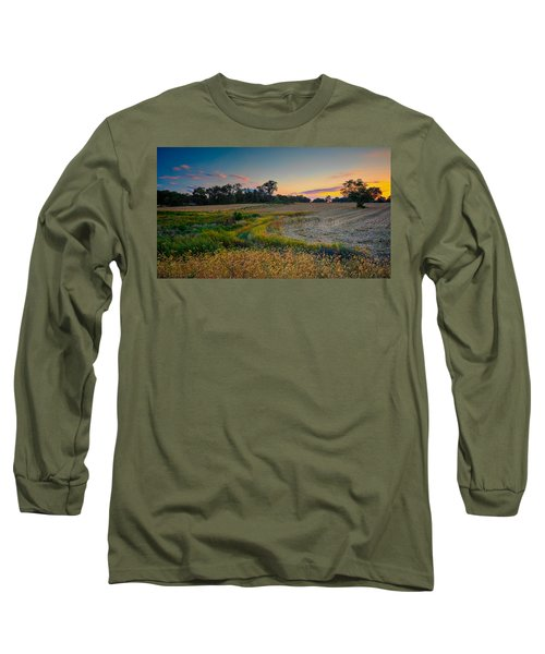 October Evening On The Farm Long Sleeve T-Shirt