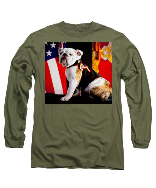 Official Mascot Of The Marine Corps Long Sleeve T-Shirt by Pg Reproductions