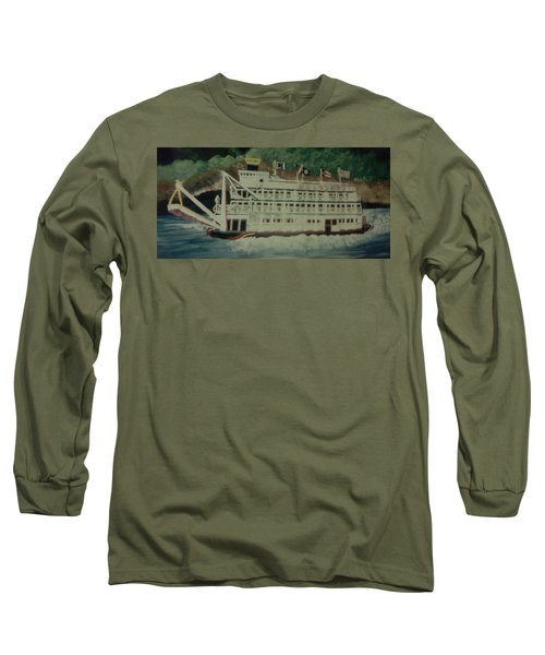 Ohio Riverboat Long Sleeve T-Shirt by Christy Saunders Church