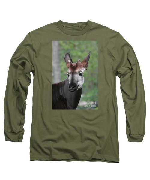 Long Sleeve T-Shirt featuring the photograph Okapi #2 by Judy Whitton