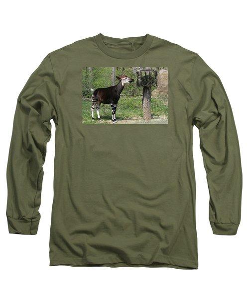 Okapi Long Sleeve T-Shirt by Judy Whitton