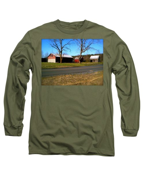 Long Sleeve T-Shirt featuring the photograph Old Barn by Amazing Photographs AKA Christian Wilson