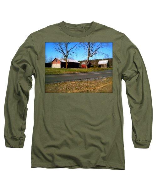 Old Barn Long Sleeve T-Shirt by Amazing Photographs AKA Christian Wilson