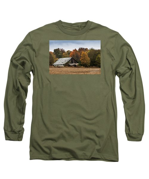 Long Sleeve T-Shirt featuring the photograph Old Barn by Debbie Green