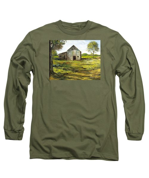 Old Barn Long Sleeve T-Shirt by Lee Piper