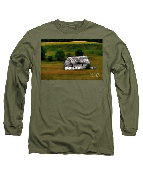 Old Barn Near Buckhannon Long Sleeve T-Shirt by Dan Friend