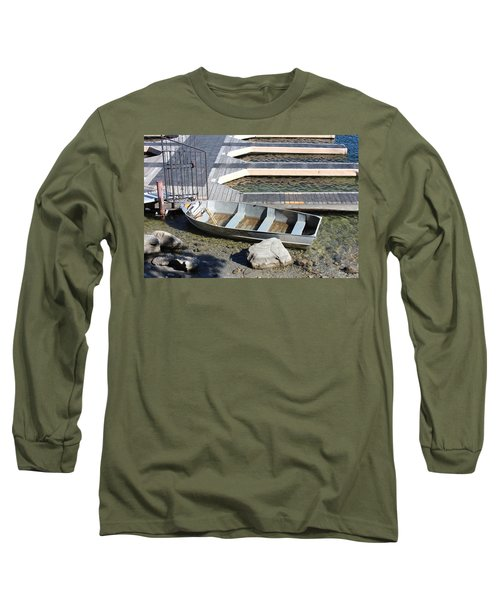 Old Boat And Dock Long Sleeve T-Shirt