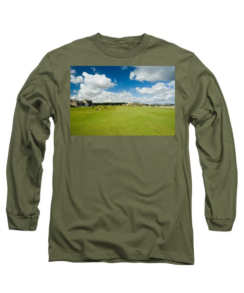 Old Course Fairways Long Sleeve T-Shirt by Jeremy Voisey
