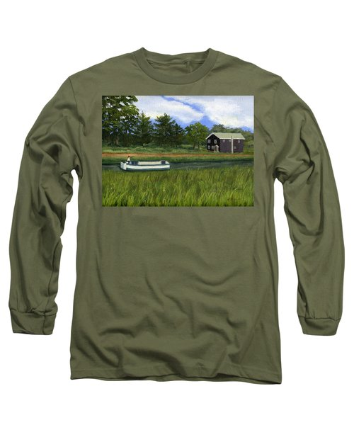 Long Sleeve T-Shirt featuring the painting Old Erie by Lynne Reichhart