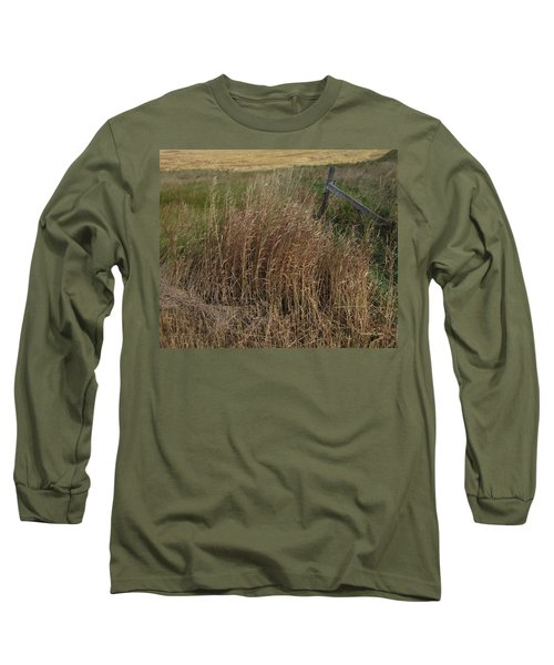 Old Fence Line Long Sleeve T-Shirt by Donald S Hall
