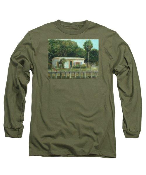 Old Florida Fish Camp And Marina Long Sleeve T-Shirt