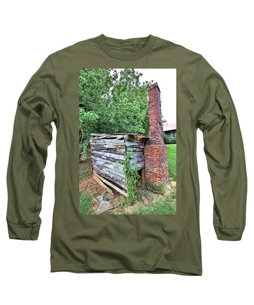 Long Sleeve T-Shirt featuring the photograph Old Georgia Smokehouse by Gordon Elwell