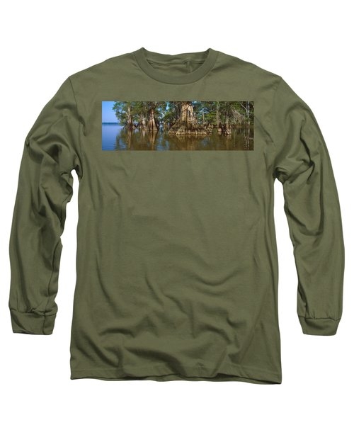 Old-growth Cypresses At Lake Fausse Long Sleeve T-Shirt