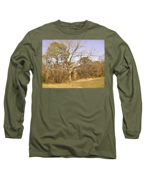 Old Haunted Tree Long Sleeve T-Shirt by Amazing Photographs AKA Christian Wilson