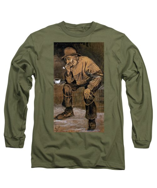 Old Man With A Pipe, 1883 Long Sleeve T-Shirt