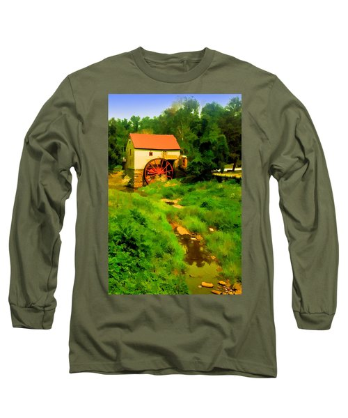Old Mill In Springtime Long Sleeve T-Shirt