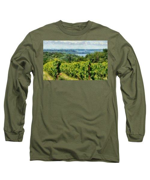 Old Mission Peninsula Vineyard Long Sleeve T-Shirt