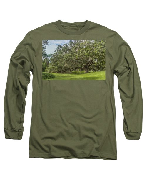 Long Sleeve T-Shirt featuring the photograph Old Oak Tree by Jane Luxton