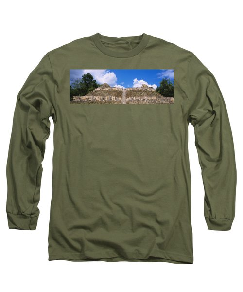 Old Ruins Of A Temple, El Caracol, Cayo Long Sleeve T-Shirt