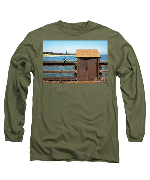 Long Sleeve T-Shirt featuring the photograph Old Shed On Ventura Pier by Susan Wiedmann