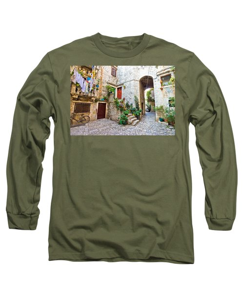 Old Stone Street Of Trogir Long Sleeve T-Shirt