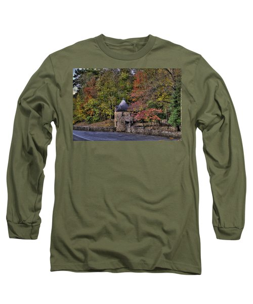 Long Sleeve T-Shirt featuring the photograph Old Stone Tower At The Edge Of The Forest by Jonny D