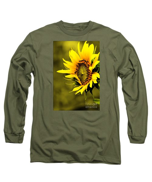 Old Time Sunflower Long Sleeve T-Shirt