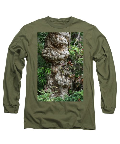 Long Sleeve T-Shirt featuring the mixed media Old Tree by Rafael Salazar