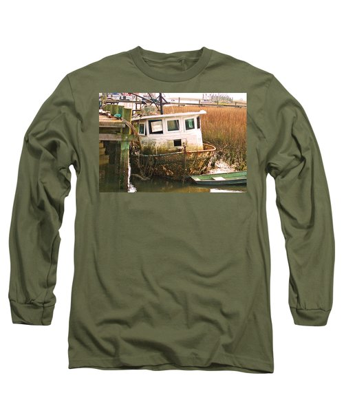 Old Tugboat By Jan Marvin Long Sleeve T-Shirt