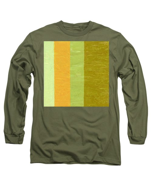 Olive And Peach Long Sleeve T-Shirt