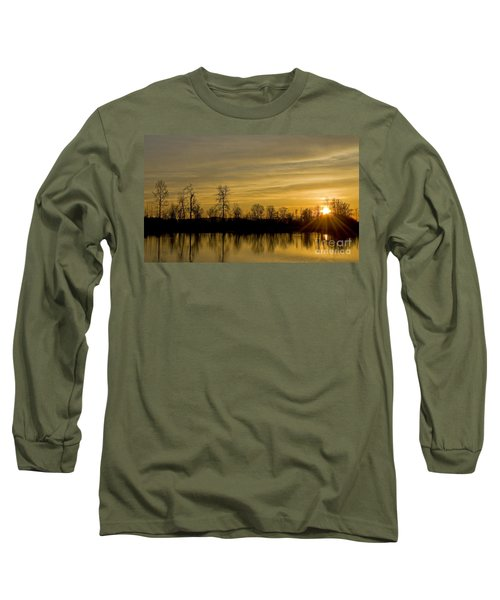 Long Sleeve T-Shirt featuring the photograph On Golden Pond by Nick  Boren