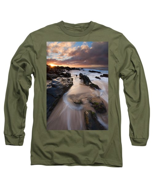 On The Rocks Long Sleeve T-Shirt by Mike  Dawson