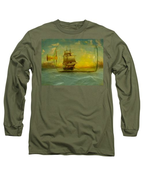 Once In A Bottle Long Sleeve T-Shirt by Jeff Burgess
