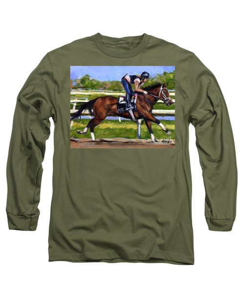 Long Sleeve T-Shirt featuring the painting Onlyforyou by Molly Poole