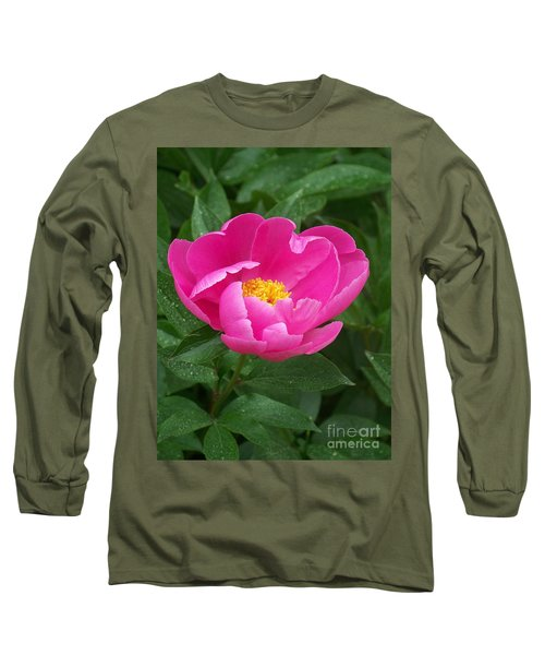 Long Sleeve T-Shirt featuring the photograph Peony  by Eunice Miller