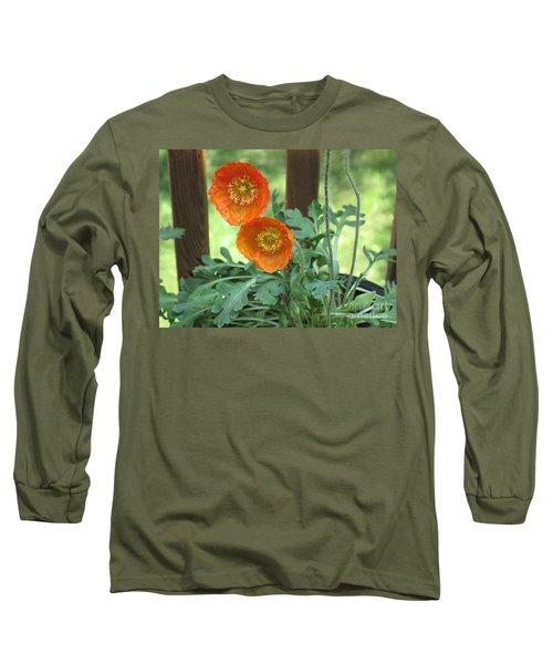 Orange Poppies Long Sleeve T-Shirt