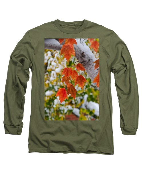 Long Sleeve T-Shirt featuring the photograph Orange White And Green by Ronda Kimbrow